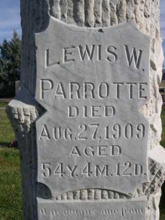 PARROTTE, LEWIS W. - Dawes County, Nebraska | LEWIS W. PARROTTE - Nebraska Gravestone Photos