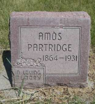 PARTRIDGE, AMOS - Dawes County, Nebraska | AMOS PARTRIDGE - Nebraska Gravestone Photos