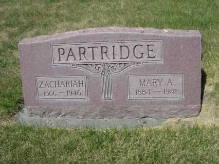 PARTRIDGE, ZACHARIAH - Dawes County, Nebraska | ZACHARIAH PARTRIDGE - Nebraska Gravestone Photos