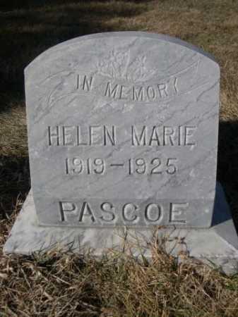 PASCOE, HELEN MARIE - Dawes County, Nebraska | HELEN MARIE PASCOE - Nebraska Gravestone Photos