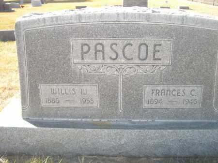 PASCOE, WILLIS W. - Dawes County, Nebraska | WILLIS W. PASCOE - Nebraska Gravestone Photos