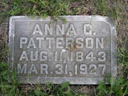 PATTERSON, ANNA C. - Dawes County, Nebraska | ANNA C. PATTERSON - Nebraska Gravestone Photos