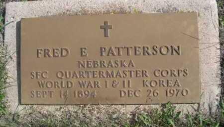 PATTERSON, FRED E. - Dawes County, Nebraska   FRED E. PATTERSON - Nebraska Gravestone Photos
