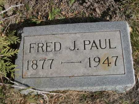 PAUL, FRED J. - Dawes County, Nebraska | FRED J. PAUL - Nebraska Gravestone Photos