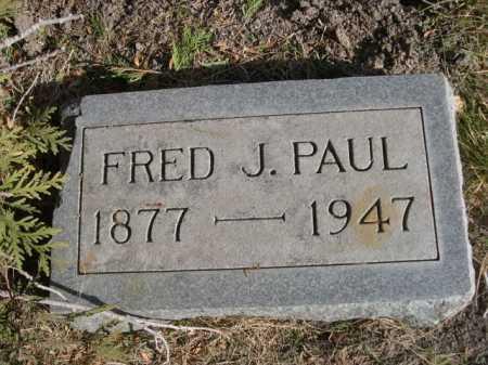 PAUL, FRED J. - Dawes County, Nebraska | FRED J. PAUL - Nebraska Gravestone Photos