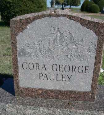 GEORGE PAULEY, CORA - Dawes County, Nebraska | CORA GEORGE PAULEY - Nebraska Gravestone Photos