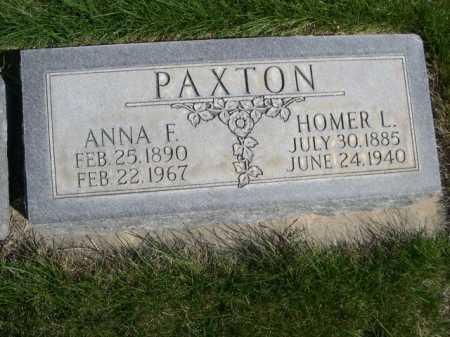 PAXTON, HOMER L. - Dawes County, Nebraska | HOMER L. PAXTON - Nebraska Gravestone Photos