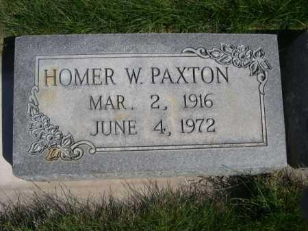 PAXTON, HOMER W. - Dawes County, Nebraska   HOMER W. PAXTON - Nebraska Gravestone Photos