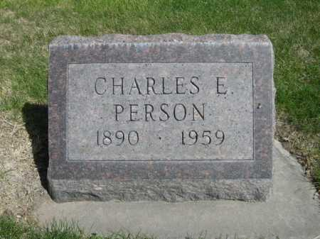 PERSON, CHARLES E. - Dawes County, Nebraska | CHARLES E. PERSON - Nebraska Gravestone Photos