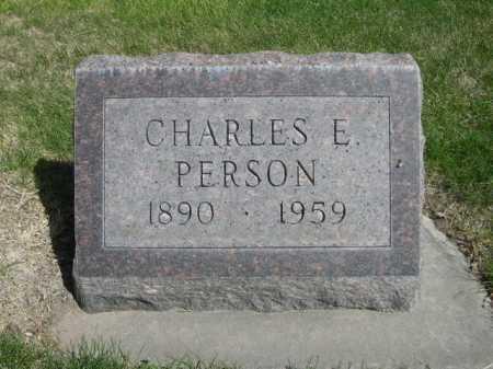PERSON, CHARLES E. - Dawes County, Nebraska   CHARLES E. PERSON - Nebraska Gravestone Photos