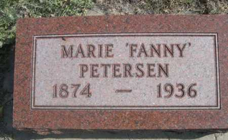 "PETERSEN, MARIE ""FANNY"" - Dawes County, Nebraska 