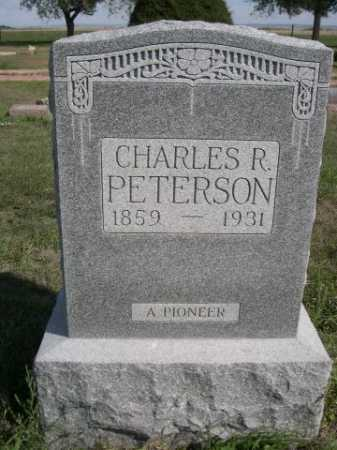 PETERSON, CHARLES R. - Dawes County, Nebraska | CHARLES R. PETERSON - Nebraska Gravestone Photos