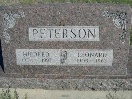 PETERSON, MILDRED - Dawes County, Nebraska | MILDRED PETERSON - Nebraska Gravestone Photos