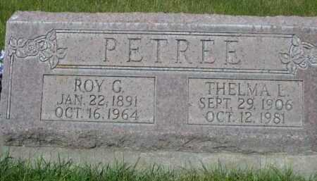 PETREE, ROY G. - Dawes County, Nebraska   ROY G. PETREE - Nebraska Gravestone Photos