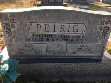 PETRIG, WALTER F. - Dawes County, Nebraska | WALTER F. PETRIG - Nebraska Gravestone Photos