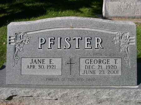 PFISTER, JANE E. - Dawes County, Nebraska | JANE E. PFISTER - Nebraska Gravestone Photos