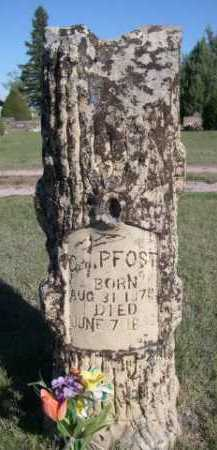 PFOST, GEO. - Dawes County, Nebraska | GEO. PFOST - Nebraska Gravestone Photos