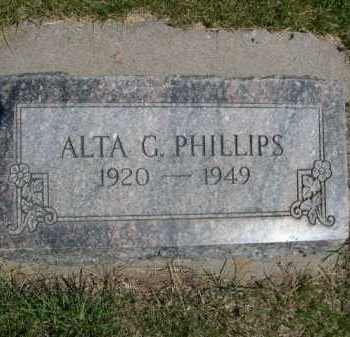 PHILLIPS, ALTA G. - Dawes County, Nebraska   ALTA G. PHILLIPS - Nebraska Gravestone Photos