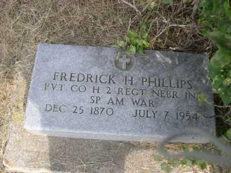 PHILLIPS, FREDRICK H. - Dawes County, Nebraska | FREDRICK H. PHILLIPS - Nebraska Gravestone Photos