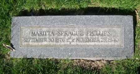 PHILLIPS, MARITTA SPRAGUE - Dawes County, Nebraska | MARITTA SPRAGUE PHILLIPS - Nebraska Gravestone Photos