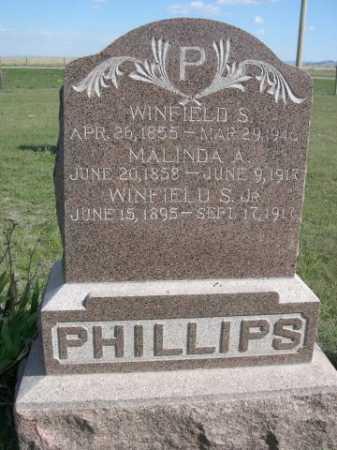 PHILLIPS, MALINDA A. - Dawes County, Nebraska | MALINDA A. PHILLIPS - Nebraska Gravestone Photos