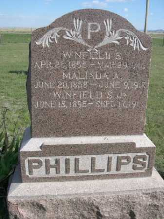 PHILLIPS, MALINDA A. - Dawes County, Nebraska | MALINDA A. PHILLIPS - Nebraska Gravestone Photos