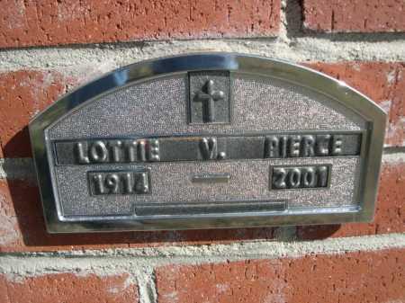 PIERCE, LOTTIE V. - Dawes County, Nebraska | LOTTIE V. PIERCE - Nebraska Gravestone Photos