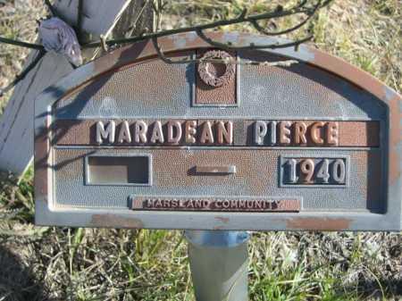 PIERCE, MARADEAN - Dawes County, Nebraska   MARADEAN PIERCE - Nebraska Gravestone Photos