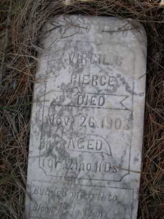 PIERCE, VIRGIL C. - Dawes County, Nebraska   VIRGIL C. PIERCE - Nebraska Gravestone Photos