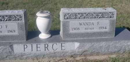 PIERCE, WANDA F. - Dawes County, Nebraska | WANDA F. PIERCE - Nebraska Gravestone Photos
