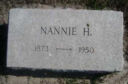 PILSTER, NANNIE H. - Dawes County, Nebraska | NANNIE H. PILSTER - Nebraska Gravestone Photos