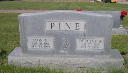 PINE, LEON G. - Dawes County, Nebraska   LEON G. PINE - Nebraska Gravestone Photos