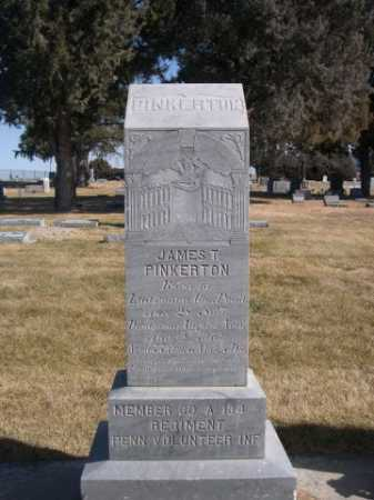 PINKERTON, JAMES T. - Dawes County, Nebraska | JAMES T. PINKERTON - Nebraska Gravestone Photos