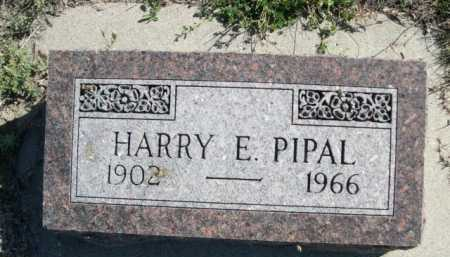 PIPAL, HARRY E. - Dawes County, Nebraska | HARRY E. PIPAL - Nebraska Gravestone Photos