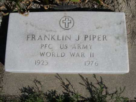PIPER, FRANKLIN J. - Dawes County, Nebraska | FRANKLIN J. PIPER - Nebraska Gravestone Photos