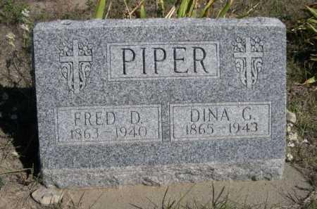 PIPER, FRED D. - Dawes County, Nebraska   FRED D. PIPER - Nebraska Gravestone Photos