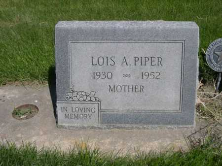 PIPER, LOIS A. - Dawes County, Nebraska   LOIS A. PIPER - Nebraska Gravestone Photos
