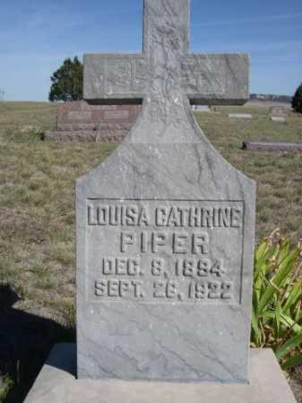 PIPER, LOUISA CATHRINE - Dawes County, Nebraska   LOUISA CATHRINE PIPER - Nebraska Gravestone Photos