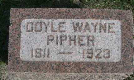 PIPHER, DOYLE WAYNE - Dawes County, Nebraska | DOYLE WAYNE PIPHER - Nebraska Gravestone Photos
