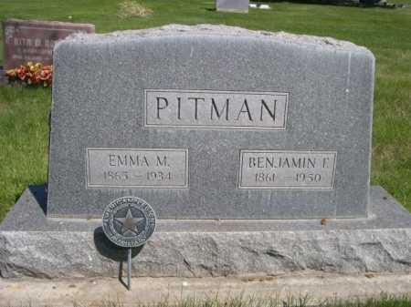 PITMAN, BENJAMIN F. - Dawes County, Nebraska | BENJAMIN F. PITMAN - Nebraska Gravestone Photos