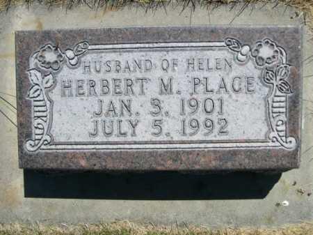 PLACE, HERBERT M. - Dawes County, Nebraska   HERBERT M. PLACE - Nebraska Gravestone Photos