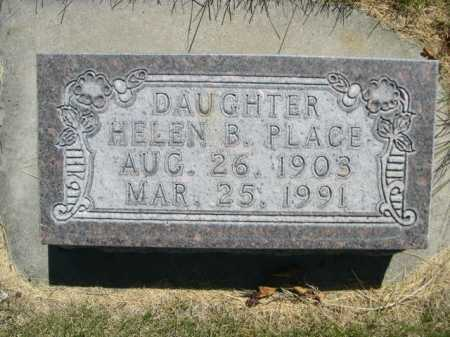 PLACE, HELEN B. - Dawes County, Nebraska | HELEN B. PLACE - Nebraska Gravestone Photos