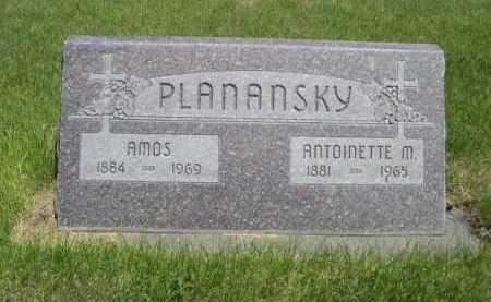 PLANANSKY, AMOS - Dawes County, Nebraska | AMOS PLANANSKY - Nebraska Gravestone Photos