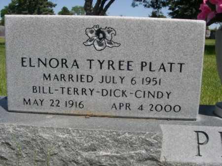 TYREE PLATT, ELNORA - Dawes County, Nebraska | ELNORA TYREE PLATT - Nebraska Gravestone Photos