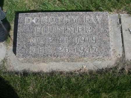 PLUMMER, DOROTHY FAY - Dawes County, Nebraska | DOROTHY FAY PLUMMER - Nebraska Gravestone Photos