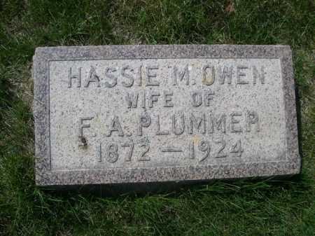 PLUMMER, HASSIE M - Dawes County, Nebraska | HASSIE M PLUMMER - Nebraska Gravestone Photos