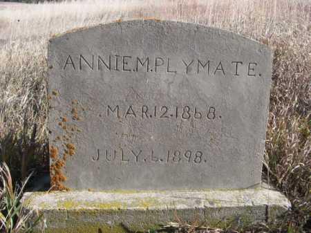 PLYMATE, ANNIE M. - Dawes County, Nebraska | ANNIE M. PLYMATE - Nebraska Gravestone Photos