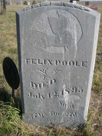 POOLE, FELIX - Dawes County, Nebraska | FELIX POOLE - Nebraska Gravestone Photos