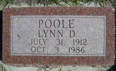POOLE, LYNN D. - Dawes County, Nebraska   LYNN D. POOLE - Nebraska Gravestone Photos