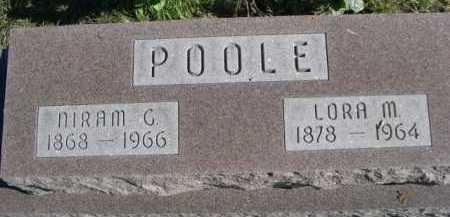 POOLE, NIRAM G. - Dawes County, Nebraska   NIRAM G. POOLE - Nebraska Gravestone Photos